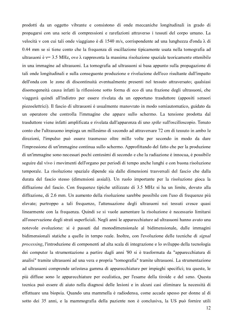 Anteprima della tesi: Analisi della fattibilità e valutazione del rischio di tecniche diagnostiche basate su radar UWB per l'individuazione del tumore al seno, Pagina 9