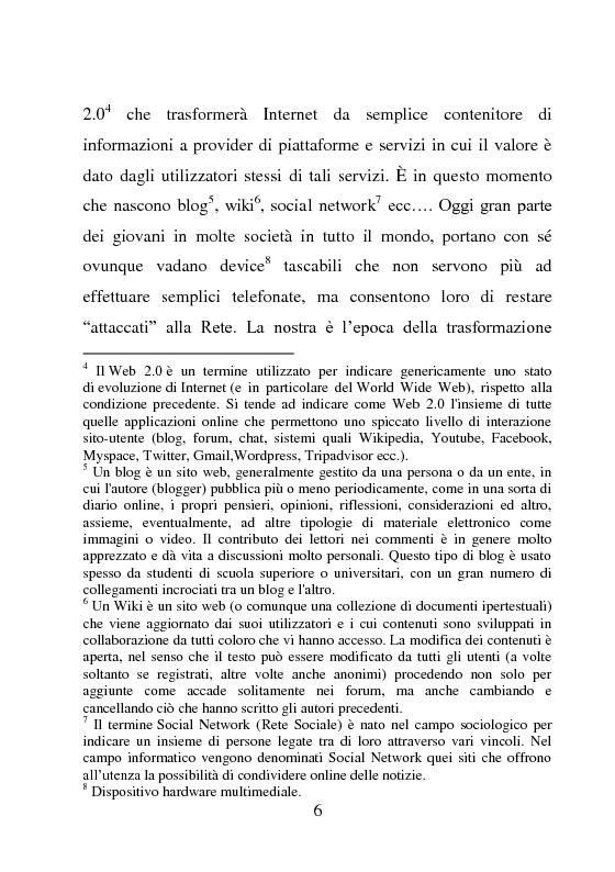 Anteprima della tesi: Nativi Digitali: adolescenti sempre in contatto, Pagina 3