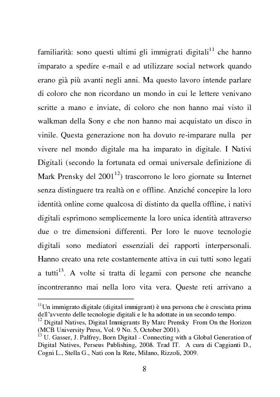 Anteprima della tesi: Nativi Digitali: adolescenti sempre in contatto, Pagina 5
