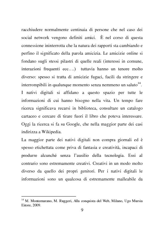 Anteprima della tesi: Nativi Digitali: adolescenti sempre in contatto, Pagina 6