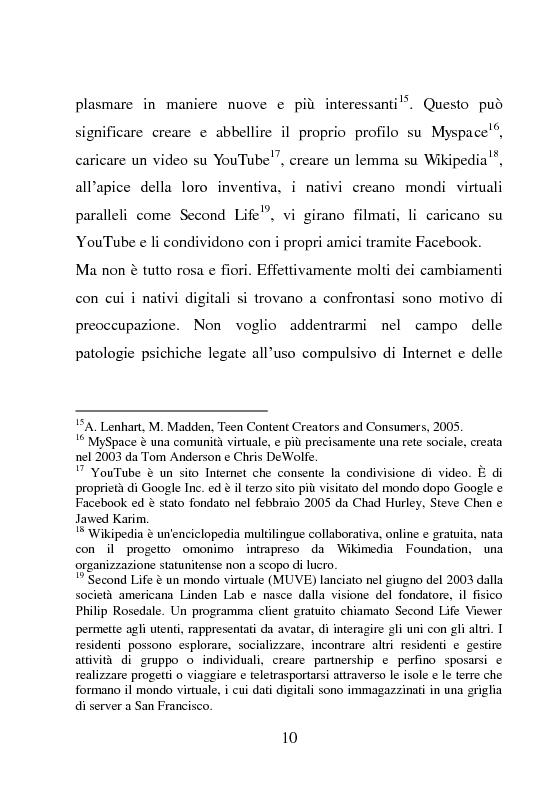 Anteprima della tesi: Nativi Digitali: adolescenti sempre in contatto, Pagina 7