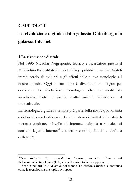 Anteprima della tesi: Nativi Digitali: adolescenti sempre in contatto, Pagina 9