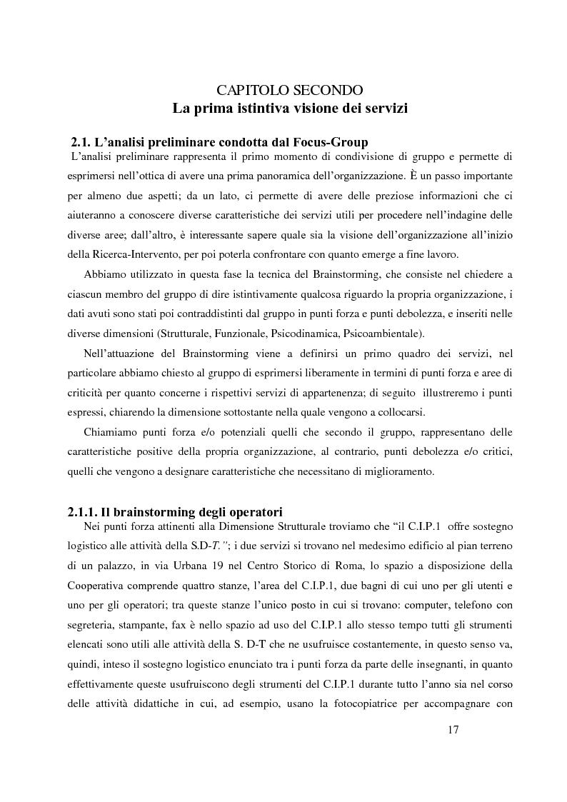 Estratto dalla tesi: Analisi Organizzativa Multidimensionale come strumento di miglioramento della comunicazione  interna nel no profit