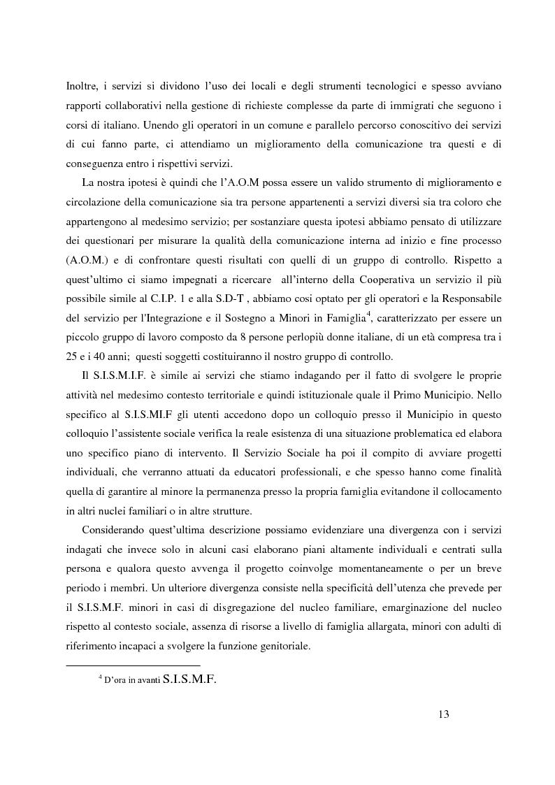 Anteprima della tesi: Analisi Organizzativa Multidimensionale come strumento di miglioramento della comunicazione  interna nel no profit, Pagina 11