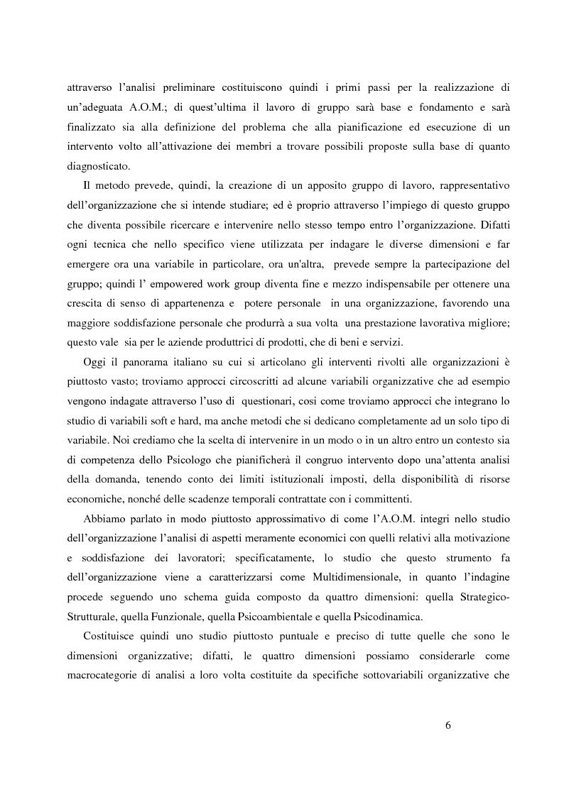 Anteprima della tesi: Analisi Organizzativa Multidimensionale come strumento di miglioramento della comunicazione  interna nel no profit, Pagina 4