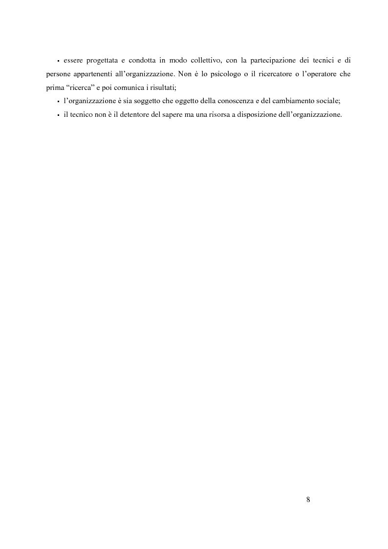 Anteprima della tesi: Analisi Organizzativa Multidimensionale come strumento di miglioramento della comunicazione  interna nel no profit, Pagina 6