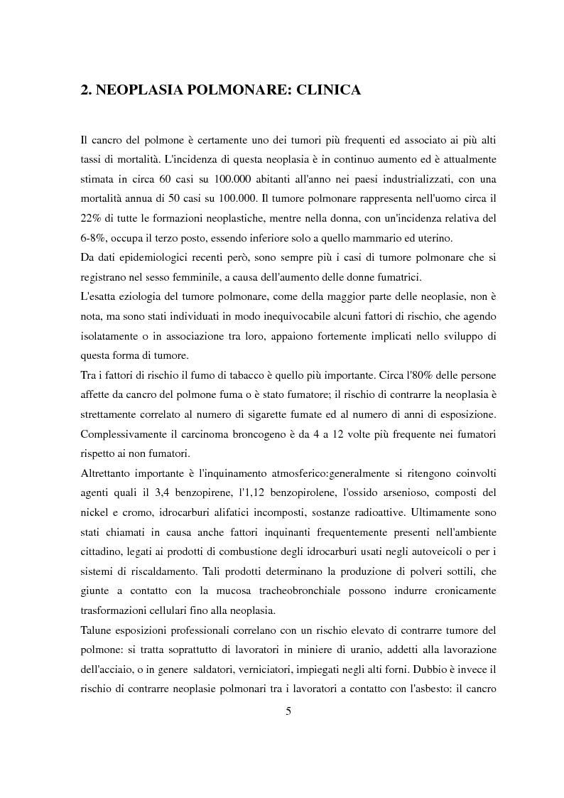 Anteprima della tesi: Pianificazione e trattamento radioterapico della neoplasia polmonare con tecnica 4D, Pagina 2