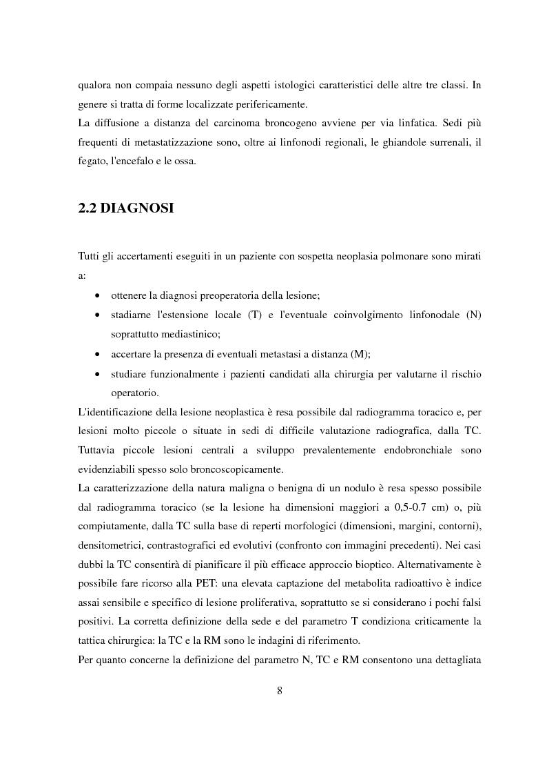 Anteprima della tesi: Pianificazione e trattamento radioterapico della neoplasia polmonare con tecnica 4D, Pagina 5