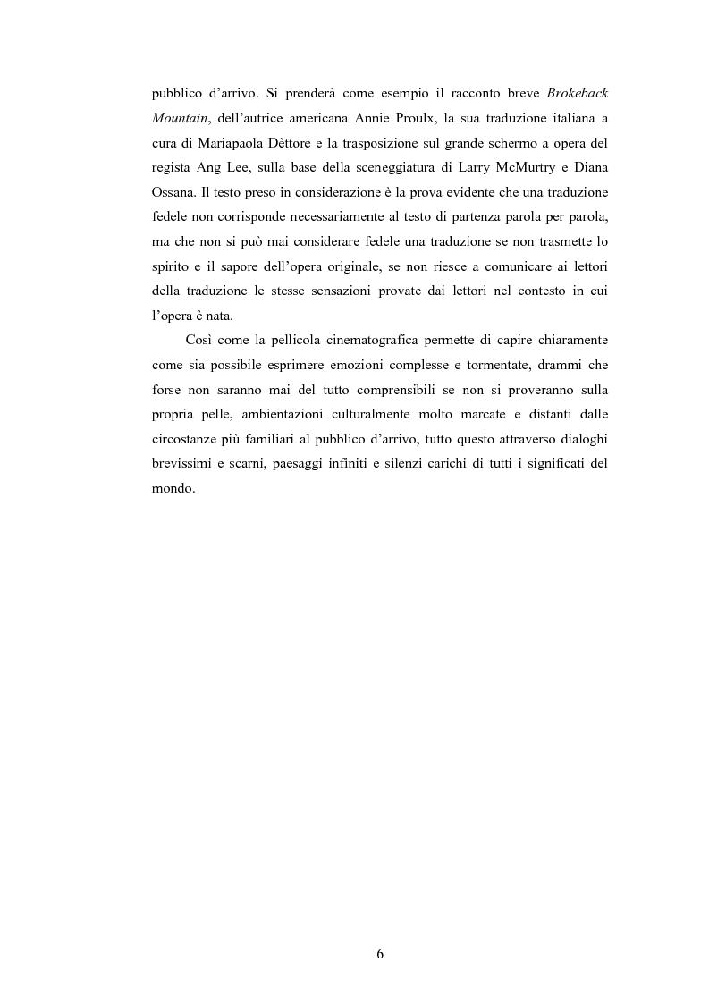 Anteprima della tesi: Brokeback Mountain: dal racconto al cinema. Una traduzione fedele?, Pagina 3