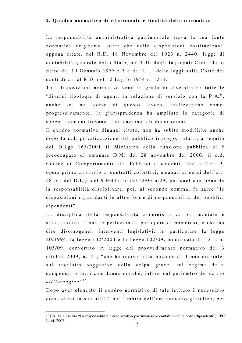 Anteprima della tesi: La responsabilità amministrativa patrimoniale, Giurisdizione Contabile, Danno Erariale, Pagina 6