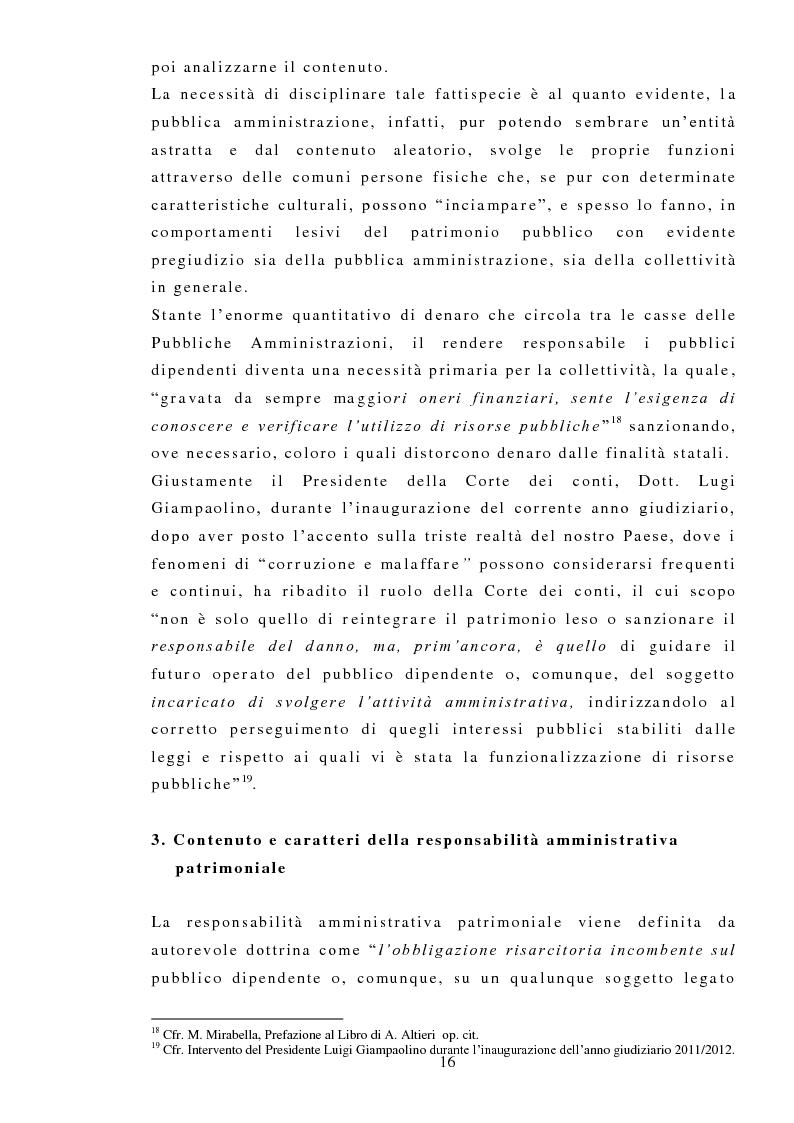 Anteprima della tesi: La responsabilità amministrativa patrimoniale, Giurisdizione Contabile, Danno Erariale, Pagina 7