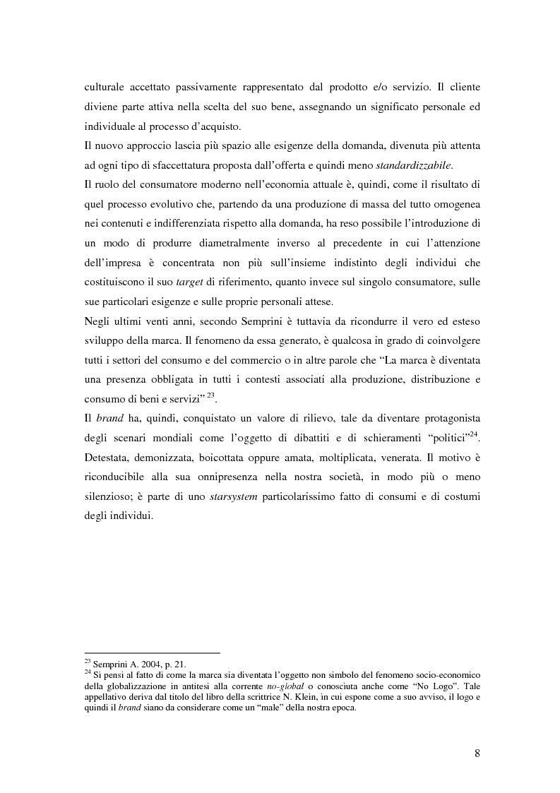 Anteprima della tesi: Il Brand Equity per il museo: possibilità e applicazioni., Pagina 9