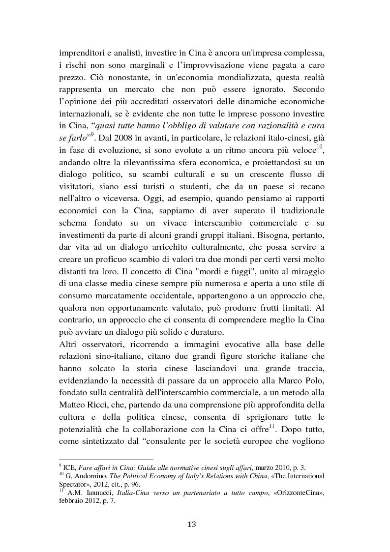Anteprima della tesi: Il cambiamento dei consumi alimentari in Cina e le prospettive per gli imprenditori italiani, Pagina 5
