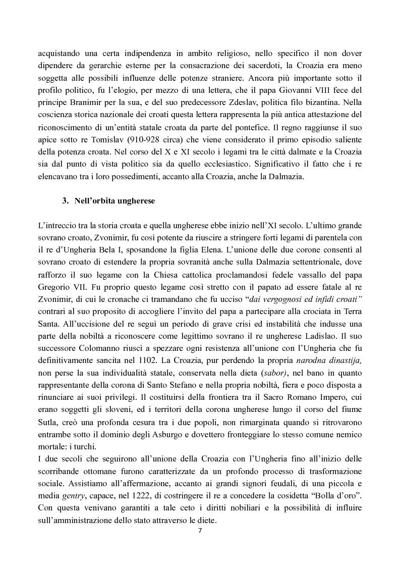 Anteprima della tesi: Il lungo percorso della Croazia verso l'Unione Europea, Pagina 5