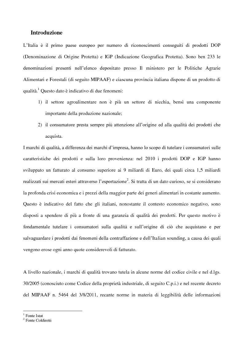 Anteprima della tesi: La tutela del marchio di qualità agroalimentare, Pagina 2