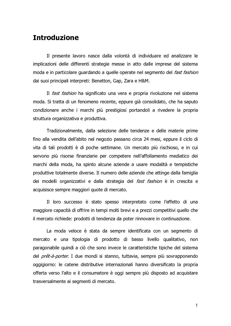 Anteprima della tesi: Strategie di diversificazione nel fast fashion: i casi Zara e H&M, Pagina 2