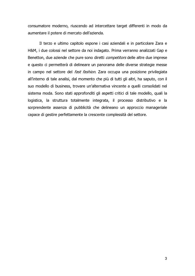 Anteprima della tesi: Strategie di diversificazione nel fast fashion: i casi Zara e H&M, Pagina 4