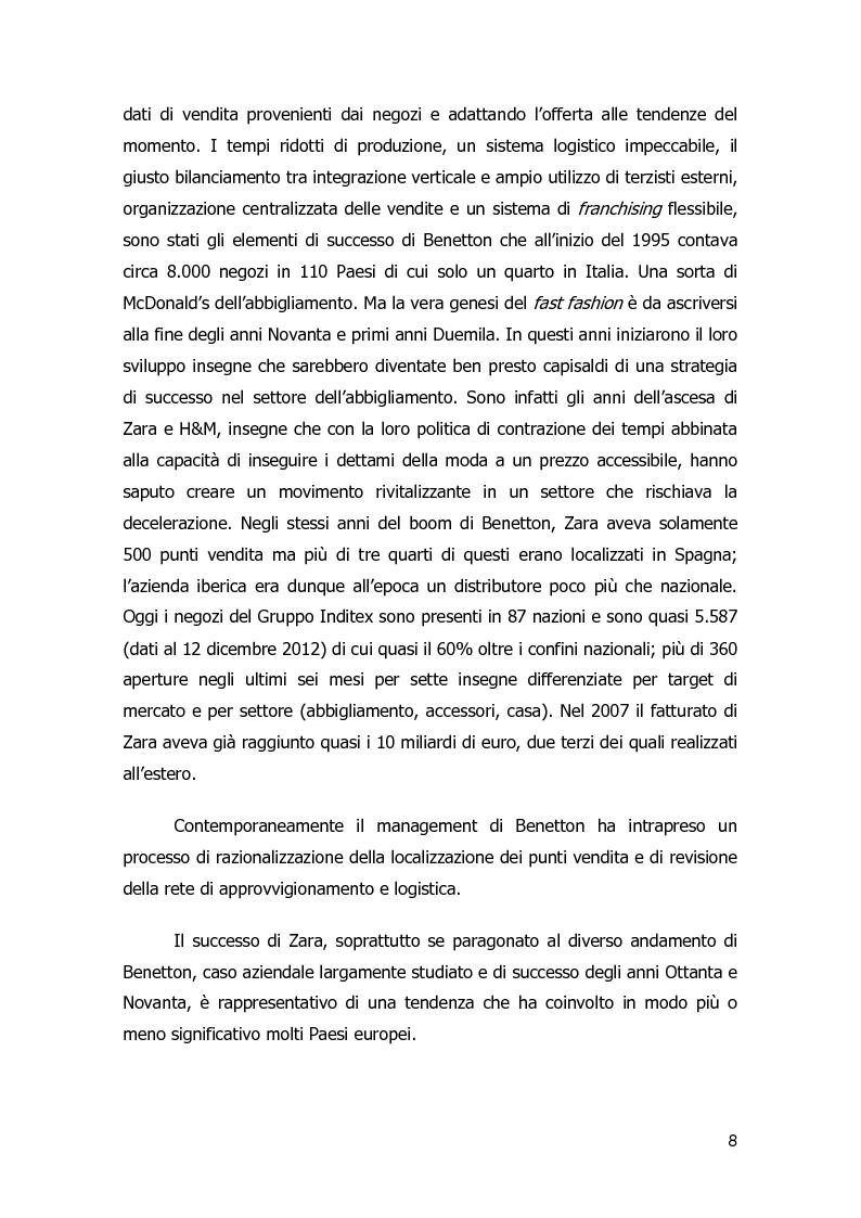 Anteprima della tesi: Strategie di diversificazione nel fast fashion: i casi Zara e H&M, Pagina 8