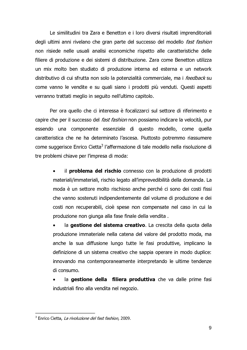 Anteprima della tesi: Strategie di diversificazione nel fast fashion: i casi Zara e H&M, Pagina 9