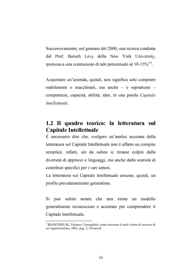 Anteprima della tesi: Balanced Scorecard: Un modello significativo per la valutazione del Capitale Intellettuale , Pagina 7