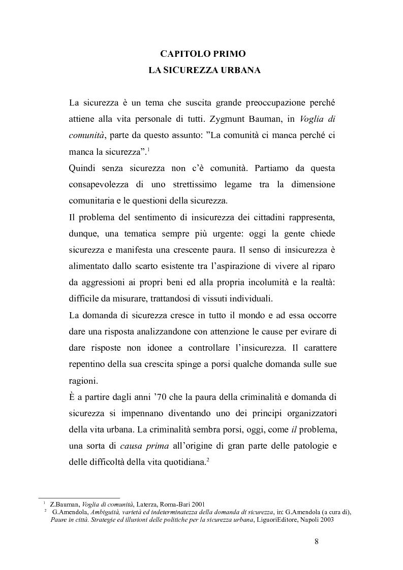 Anteprima della tesi:       Sicurezza urbana e coesione sociale: sfide e opportunità, Pagina 6
