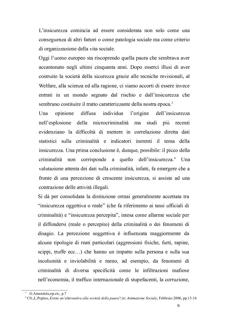 Anteprima della tesi:       Sicurezza urbana e coesione sociale: sfide e opportunità, Pagina 7