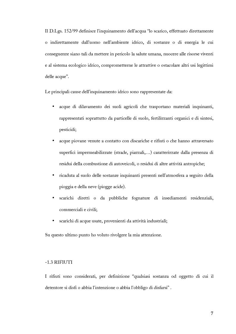 Anteprima della tesi: Saggi ecotossicologici su miscele di reflui industriali, Pagina 5