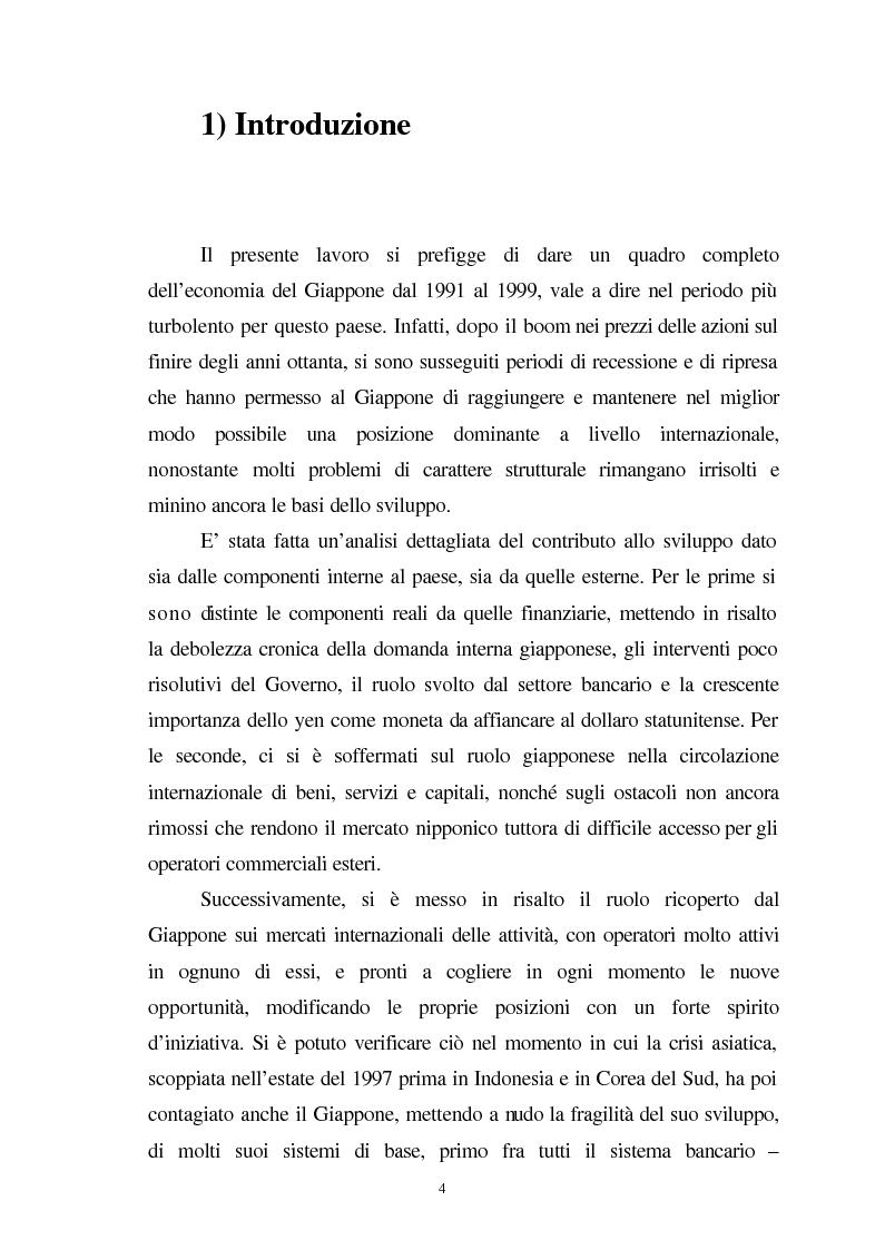 Anteprima della tesi: La crisi del sistema bancario-finanziario giapponese e le sue interrelazioni col sistema monetario internazionale, Pagina 1