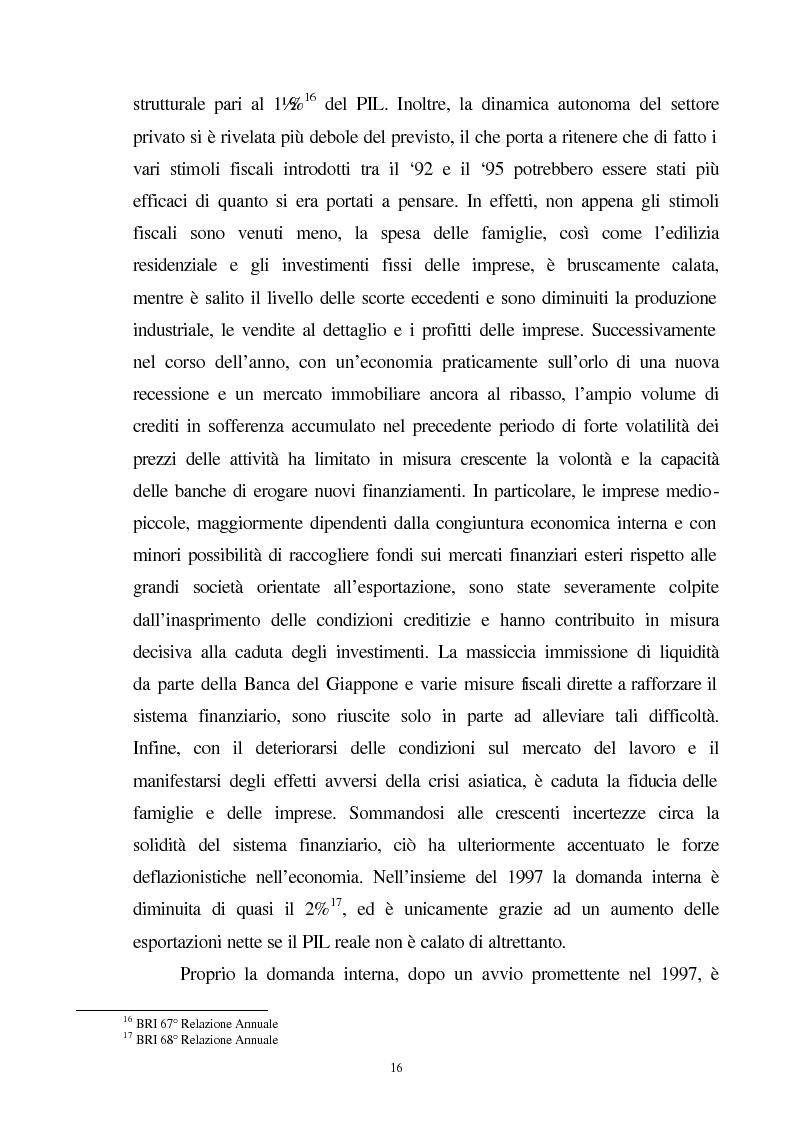 Anteprima della tesi: La crisi del sistema bancario-finanziario giapponese e le sue interrelazioni col sistema monetario internazionale, Pagina 13