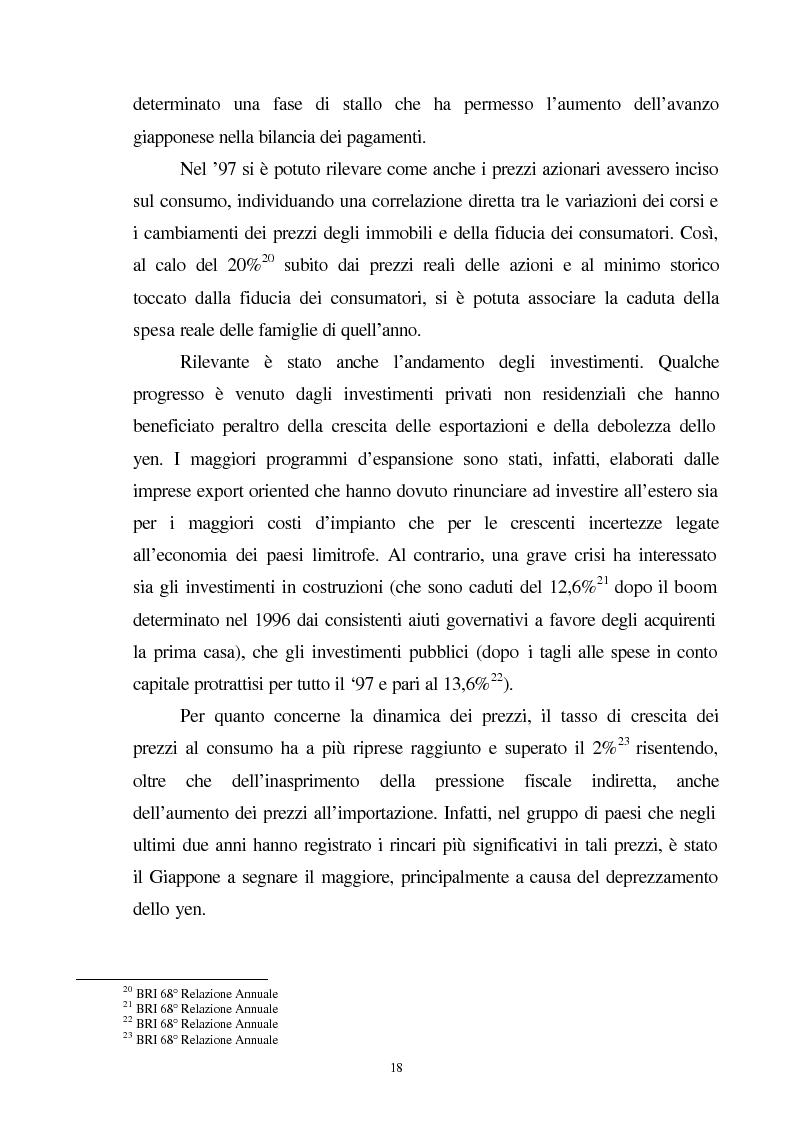 Anteprima della tesi: La crisi del sistema bancario-finanziario giapponese e le sue interrelazioni col sistema monetario internazionale, Pagina 15