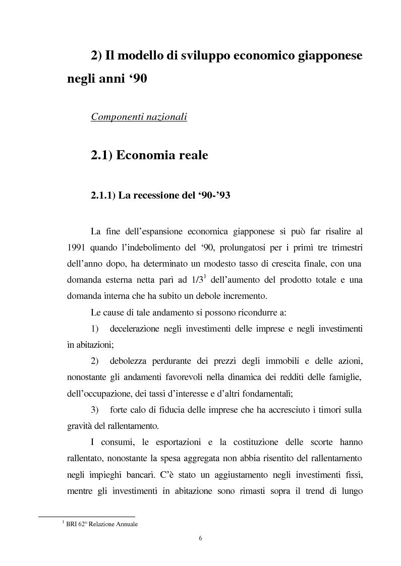 Anteprima della tesi: La crisi del sistema bancario-finanziario giapponese e le sue interrelazioni col sistema monetario internazionale, Pagina 3