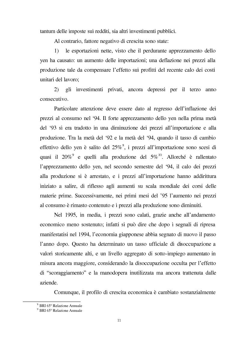 Anteprima della tesi: La crisi del sistema bancario-finanziario giapponese e le sue interrelazioni col sistema monetario internazionale, Pagina 8