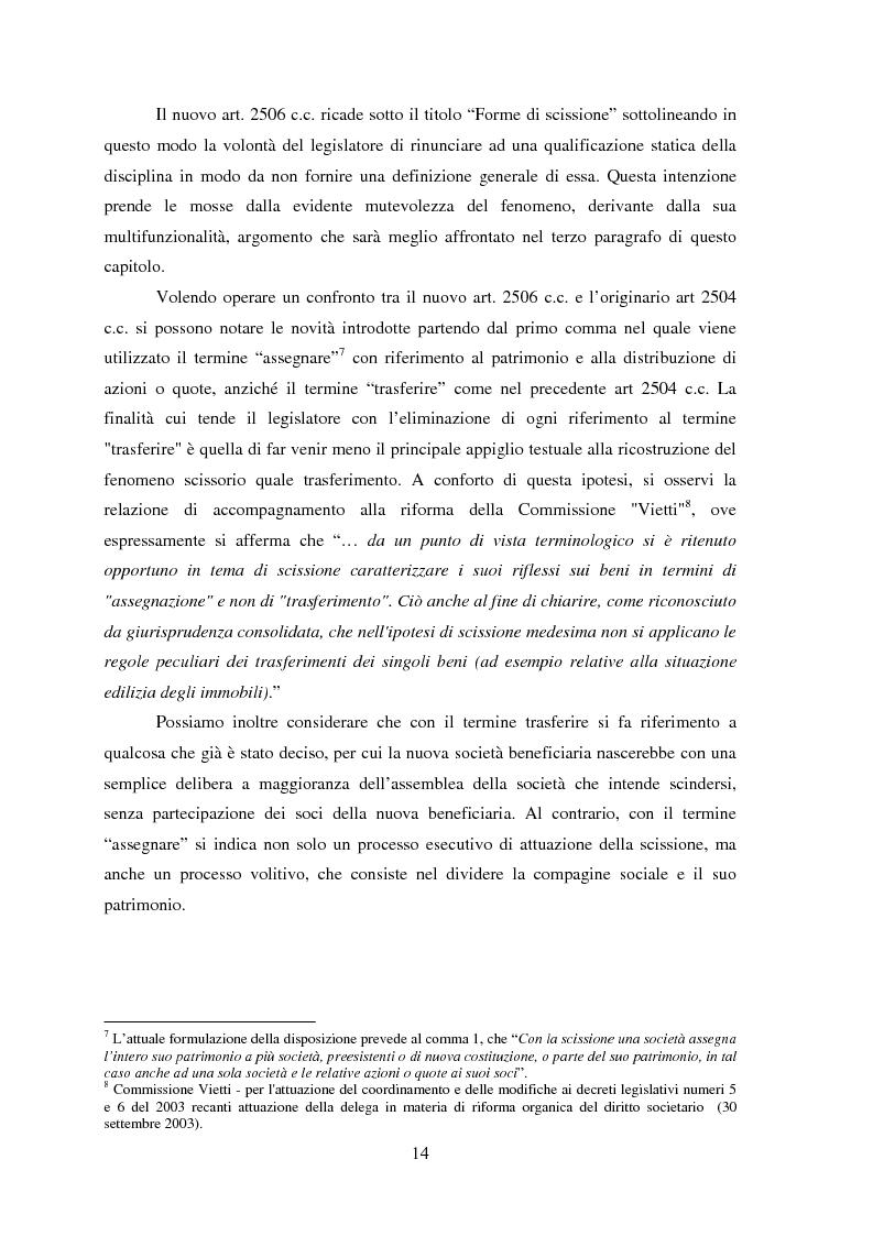 Anteprima della tesi: La scissione societaria: il caso Fiat, Pagina 10
