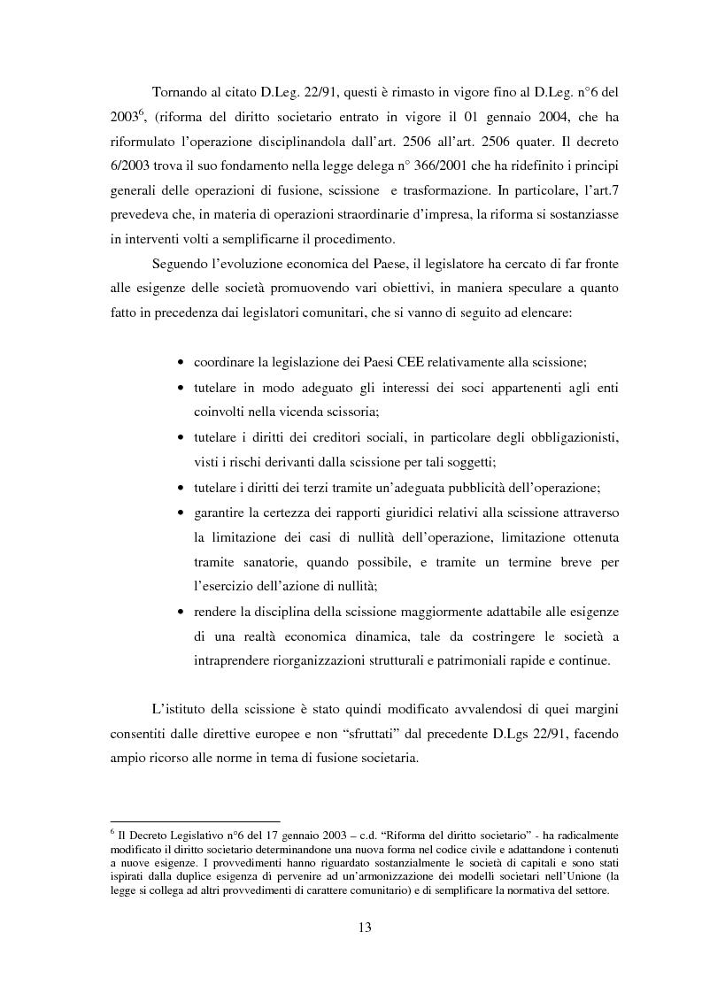 Anteprima della tesi: La scissione societaria: il caso Fiat, Pagina 9