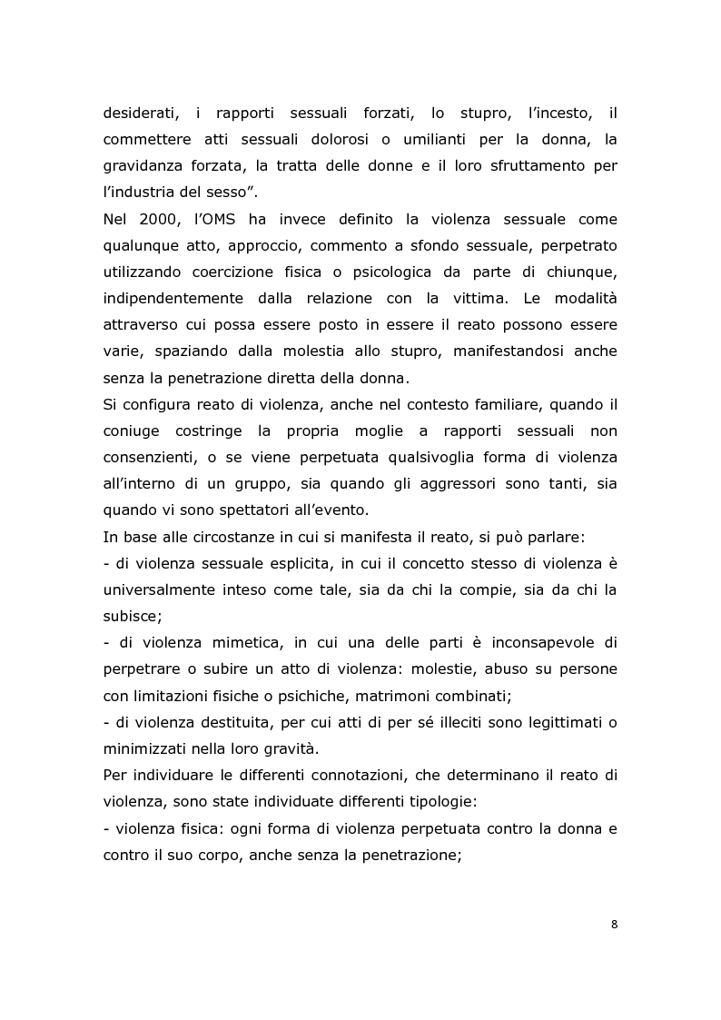Anteprima della tesi: L'assistenza ostetrica alle donne vittime di abusi sessuali, esperienze e riflessioni, Pagina 6