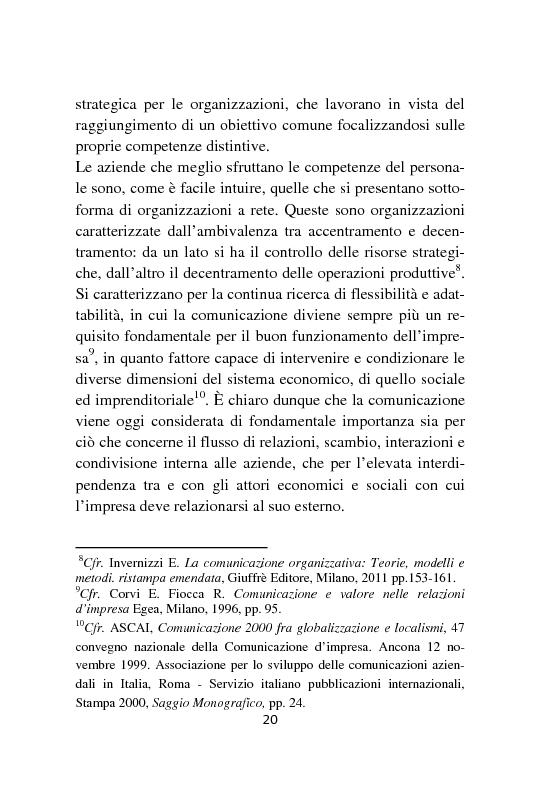 Anteprima della tesi: Strumenti e formati per l'internal communication. Gli eventi di relazione interna, l'esperienza Barilla, Pagina 11