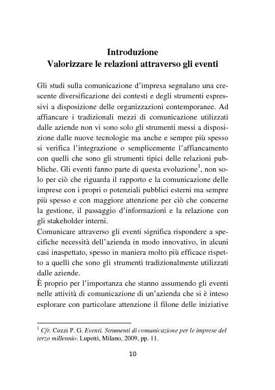 Anteprima della tesi: Strumenti e formati per l'internal communication. Gli eventi di relazione interna, l'esperienza Barilla, Pagina 2