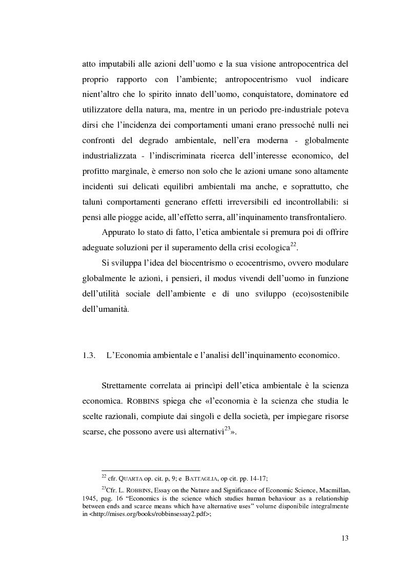 Anteprima della tesi: Profili evolutivi della politica ambientale in ambito europeo, Pagina 12