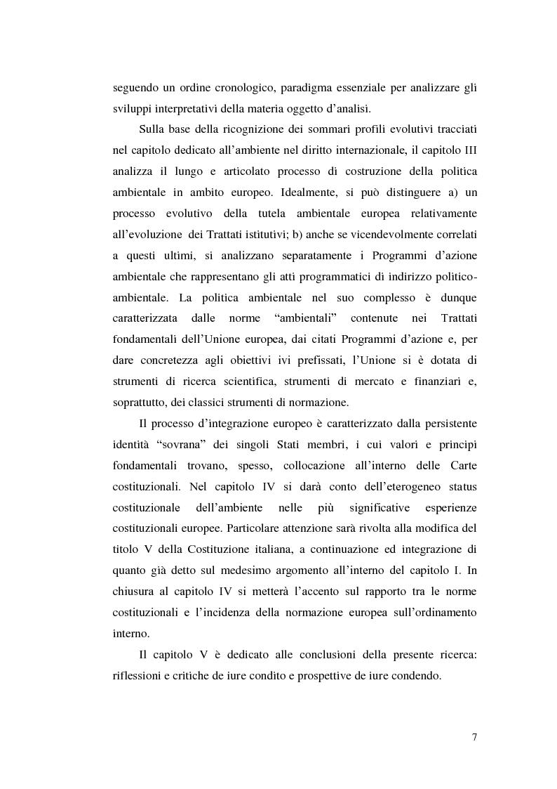 Anteprima della tesi: Profili evolutivi della politica ambientale in ambito europeo, Pagina 6