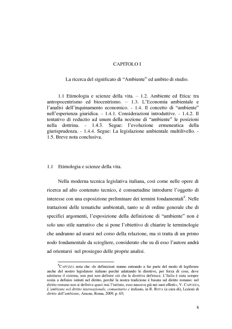 Anteprima della tesi: Profili evolutivi della politica ambientale in ambito europeo, Pagina 7