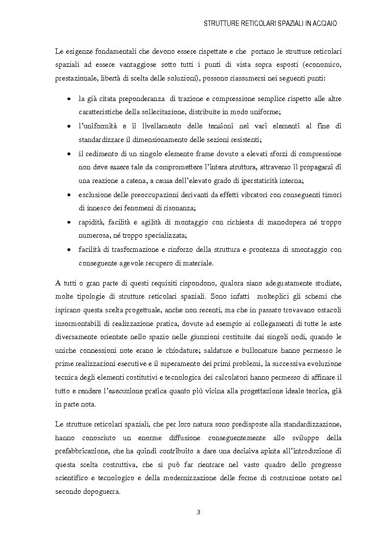 Anteprima della tesi: Strutture reticolari spaziali in acciaio: Tipologie metodi di calcolo ed esempi applicativi, Pagina 4