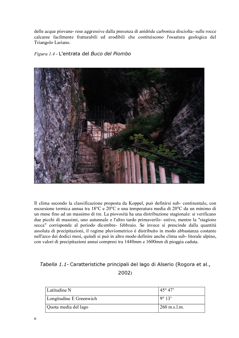 Anteprima della tesi: Roggia Fiume: caratteristiche chimiche, fisiche,biologiche, ecologiche e relativo impatto sul lago di Alserio, Pagina 5