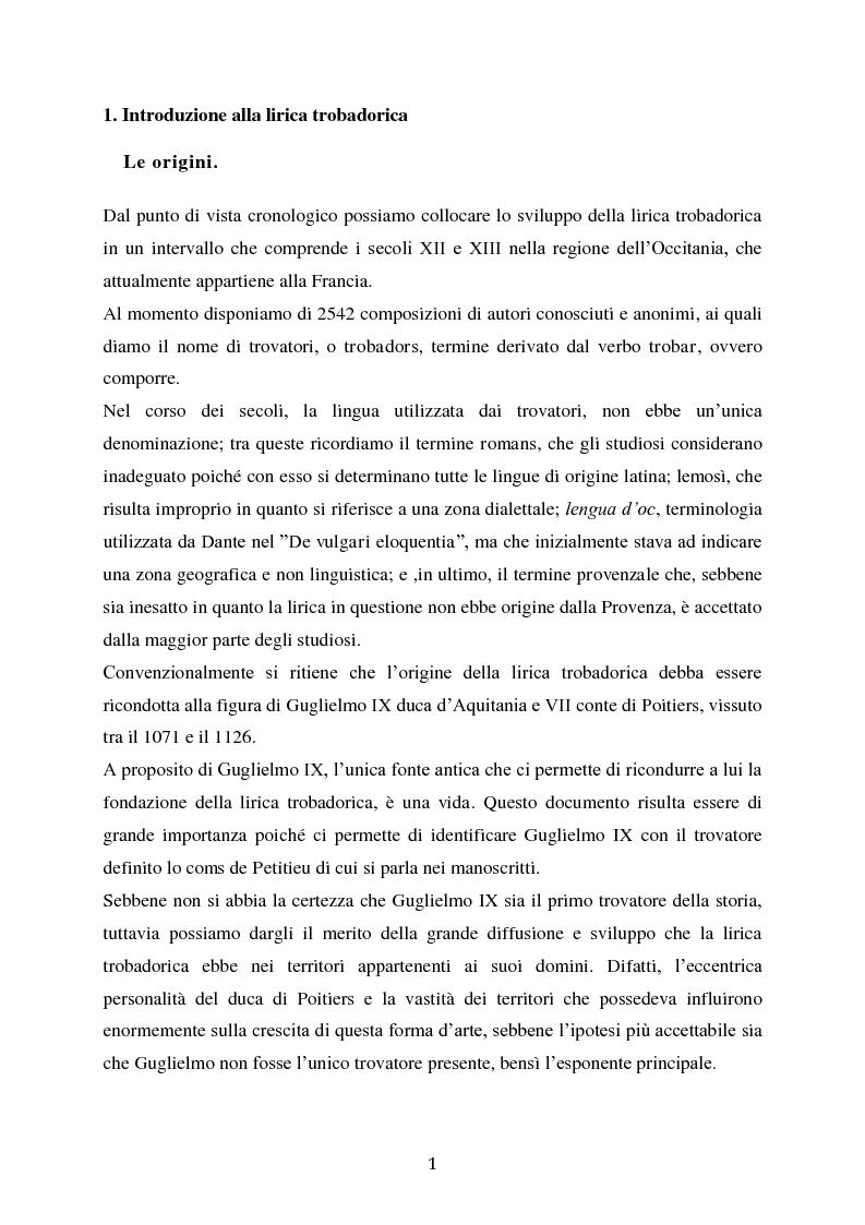 Anteprima della tesi: L'esordio invernale nei trovatori, Pagina 2