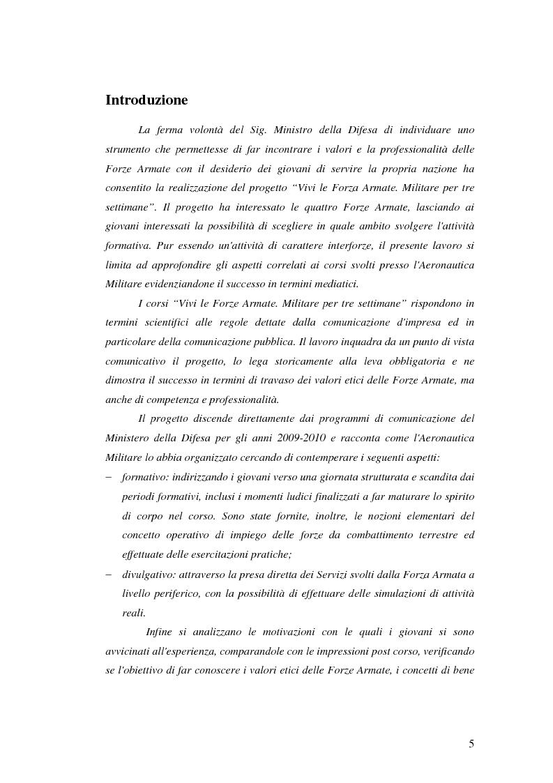 Anteprima della tesi: La Comunicazione Pubblica: Il Caso di un Progetto dell'Aeronautica Militare, Pagina 3