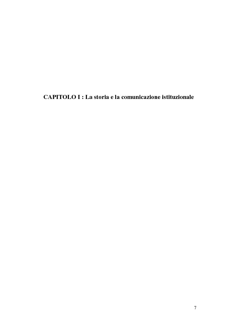 Anteprima della tesi: La Comunicazione Pubblica: Il Caso di un Progetto dell'Aeronautica Militare, Pagina 5