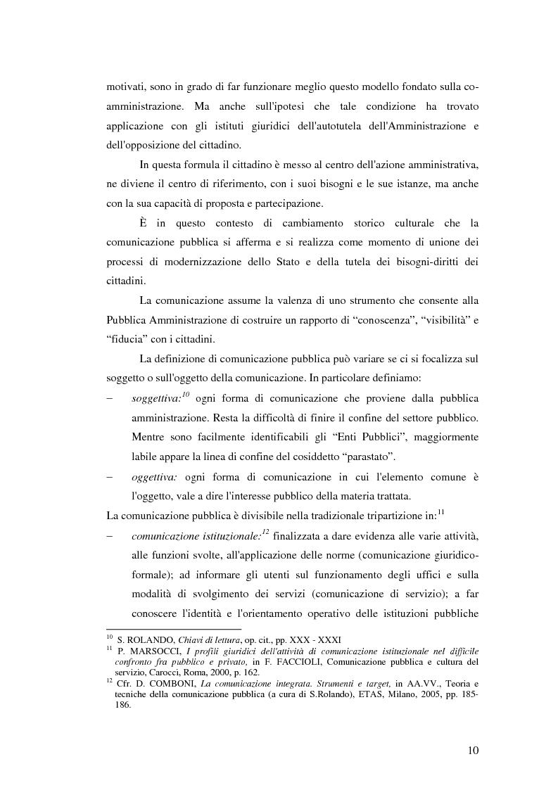 Anteprima della tesi: La Comunicazione Pubblica: Il Caso di un Progetto dell'Aeronautica Militare, Pagina 8