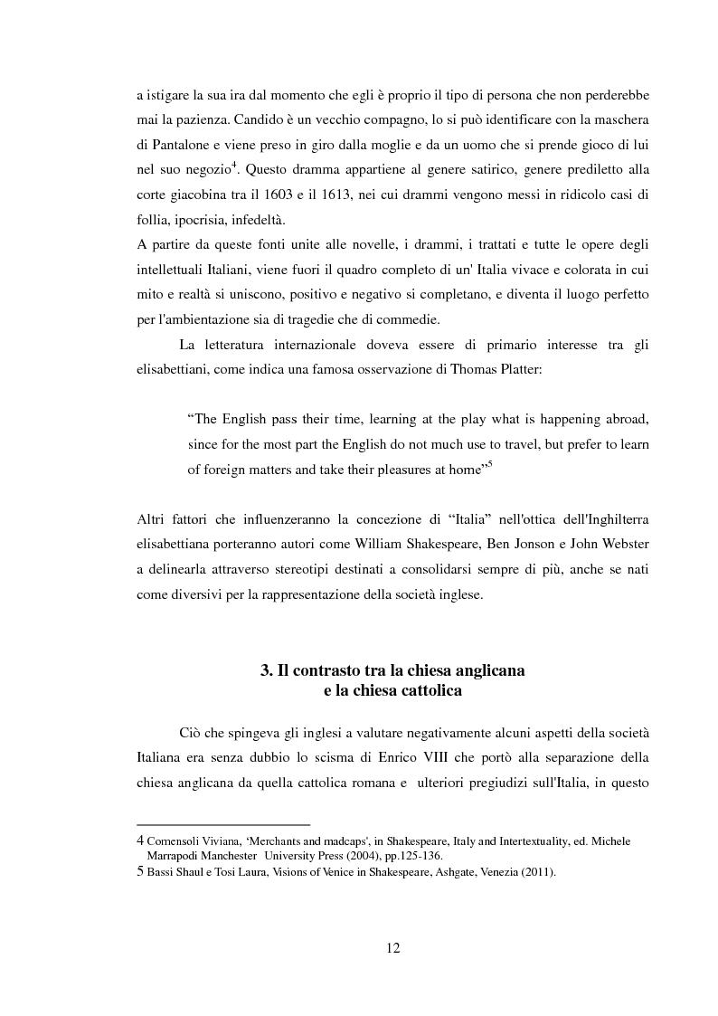 Estratto dalla tesi: Rappresentazione dell'Italia sulla Scena Elisabettiana