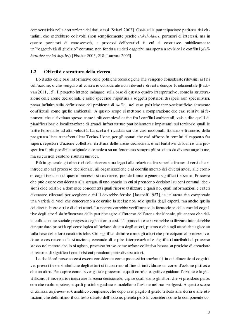 Anteprima della tesi: Processi decisionali e movimenti di protesta tra scienza e politica. Una comparazione tra Italia e Francia sul caso alta velocità, Pagina 4
