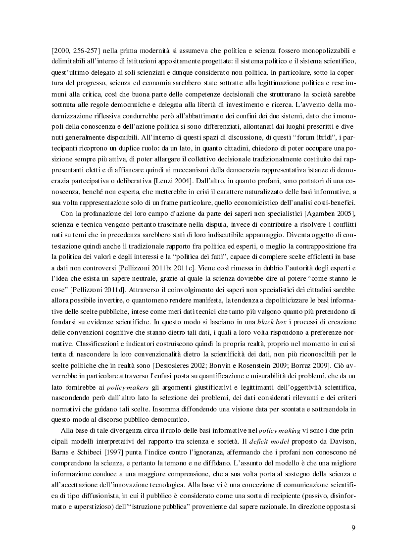 Anteprima della tesi: Processi decisionali e movimenti di protesta tra scienza e politica. Una comparazione tra Italia e Francia sul caso alta velocità, Pagina 9
