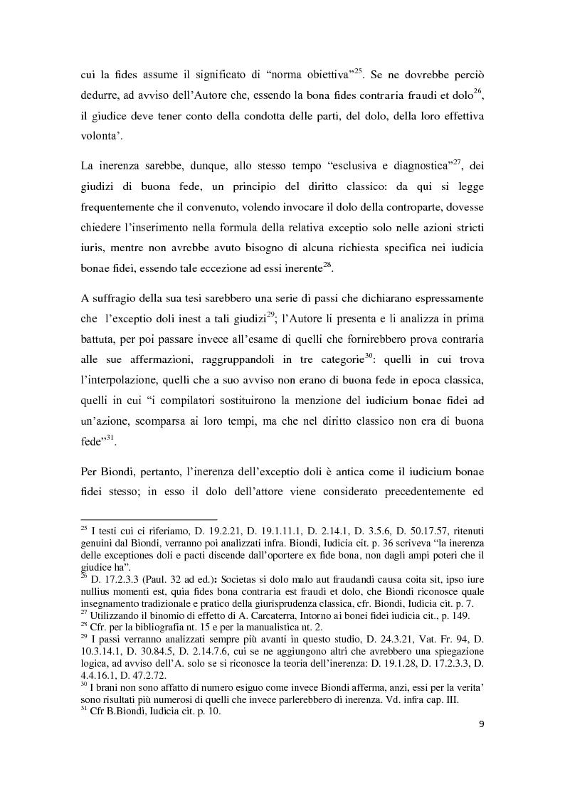 Anteprima della tesi: Exceptio doli e iudicia bonae fidei, Pagina 10